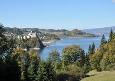 Widok na Zamek Dunajec