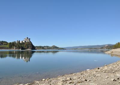 Zamek Dunajec i Jezioro Czorsztyńskie